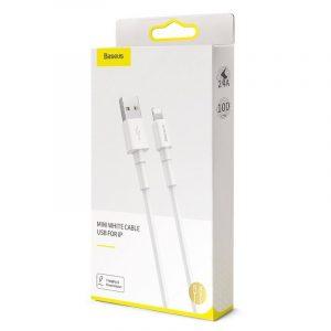 Kabel USB Lightning Baseus Mini 2.4A 1m BIAŁY