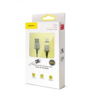 Kabel magnetyczny micro USB Baseus Zinc 2.4A 1m CZARNY