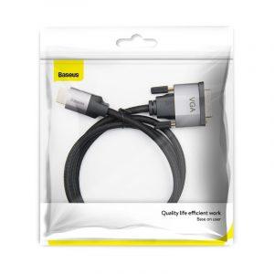 Kabel HDMI do VGA Baseus Enjoyment Series, Full HD, 1m SZARY