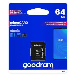Karta pamięci Goodram microSD 64GB (M1AA-0640R12)