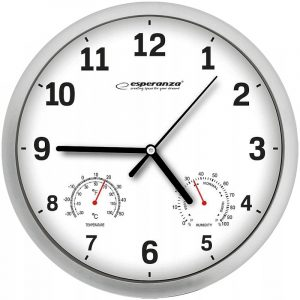 Zegar ścienny Esperanza Lyon EHC016W