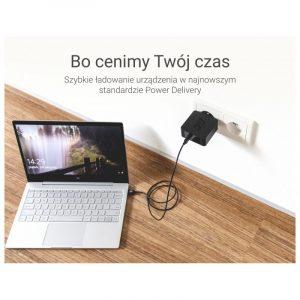 Kabel Przewód Green Cell USB-C do USB-C z obsługą Power Delivery (60W), 480 Mbps, 2m