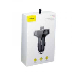 Baseus Transmiter FM z Bluetooth USB microSD CZARNY