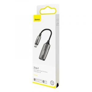 Adapter Audio Baseus L60 USB-C do Mini Jack 3.5mm i USB-C, 1A