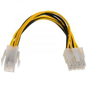 Kabel zasilający P4 4-pin M/P8 8-pin F AK-CA-10