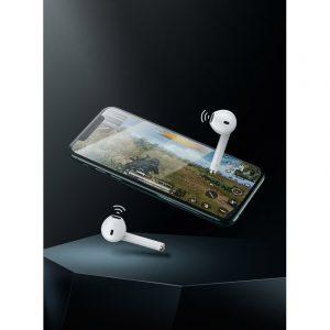 Bezprzewodowe słuchawki Baseus Encok W04 TWS, Bluetooth 5.0 (czarne)