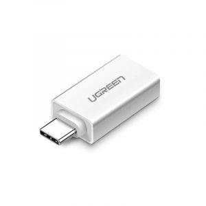 Adapter USB-A 3.0 do USB-C 3.1 UGREEN (biały)